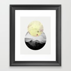 landscape montain nature Framed Art Print