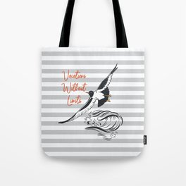 Sea adventure. Vacations without limits Tote Bag