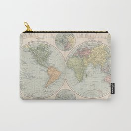 Vintage Map of The World (1892) Carry-All Pouch