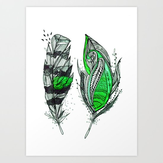 Greenish Art Print