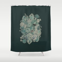 Hiding Behind Flowers Shower Curtain