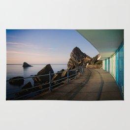 Meadfoot Beach Huts Rug