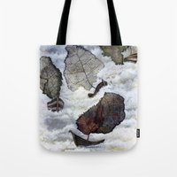 ship Tote Bags featuring Ship by Andreas Derebucha