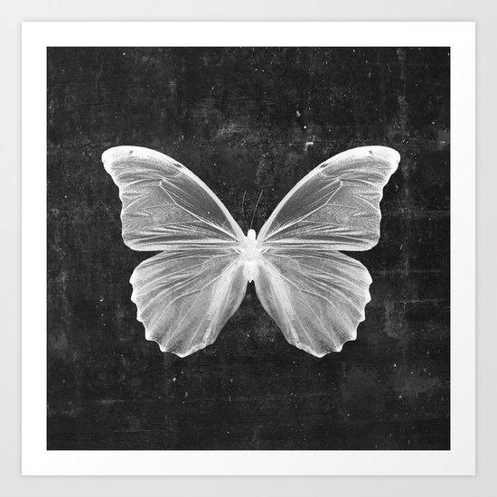 Butterfly in Black Art Print