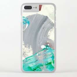 Snowy Walk in the Woods 06 Clear iPhone Case