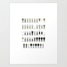 Walter White's Wardrobe - Season 5B Art Print