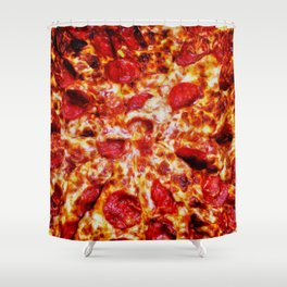 Pizza Painting Shower Curtain