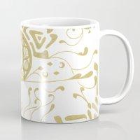 art nouveau Mugs featuring Nouveau by CyberneticGhost