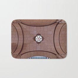 Architectural Abstract of a domed ceiling of moorish influence. Bath Mat