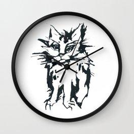 Angry Cat Wall Clock