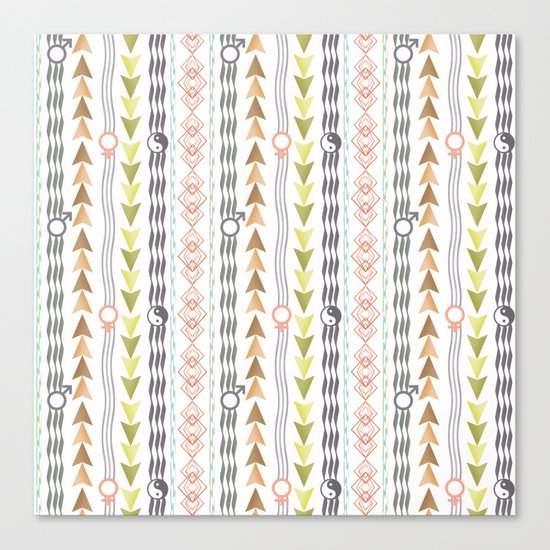 Abstract ethnic pattern. Canvas Print