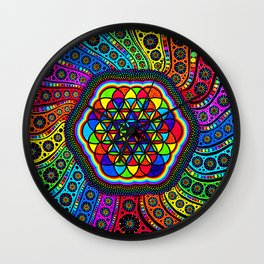 kaleidoscope of life Wall Clock