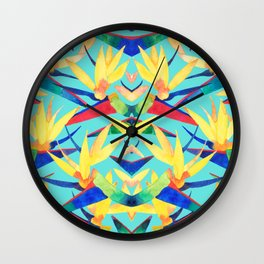 Summer Tropics Wall Clock