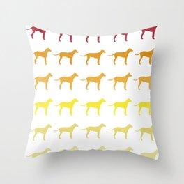 dalmatians Retro and Vintage Pattern Throw Pillow