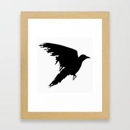 Ragged Raven Silhouette Framed Art Print