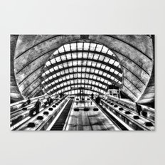 Canary Wharf Tube Escalator Canvas Print