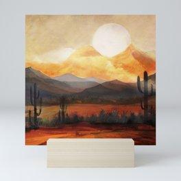 Desert in the Golden Sun Glow Mini Art Print