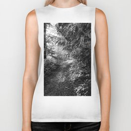 down the forest path Biker Tank