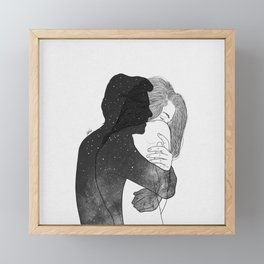 I need you, even if it's only in my mind. Framed Mini Art Print