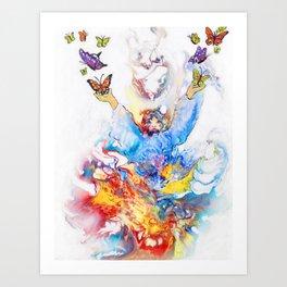 The Butterfly Deva Art Print