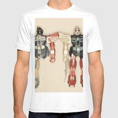 Robo Love Mens Fitted Tee White MEDIUM
