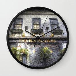 The Mayflower Pub London Art Wall Clock