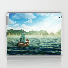 Swim back to shore Laptop & iPad Skin