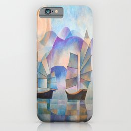 Shades of Tranquility - Cubist Junks iPhone Case