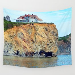Cliffs of Perce Panoramic Wall Tapestry