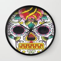 tatoo Wall Clocks featuring Tatoo ART 4  by The Greedy Fox