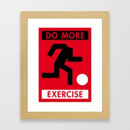 Illustrated new year wishes: #5 DO MORE EXERCISE Framed Art Print