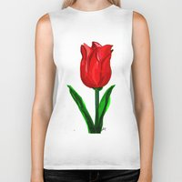 tulip Biker Tanks featuring Tulip by sladja
