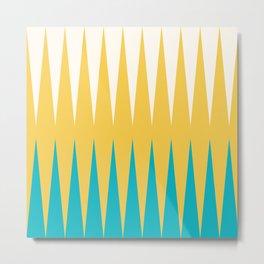 Geometrical retro colors modern print Metal Print