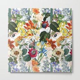 Vintage & Shabby Chic - Tropical Botanical Flower Garden  Metal Print