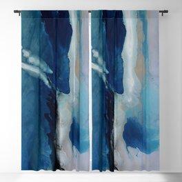 DEEP - Ocean art Resin painting, abstract seascape, coastal painting Blackout Curtain