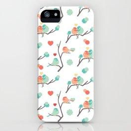 Lovebirds on White iPhone Case