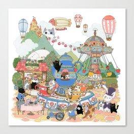 Tea cup Ride Canvas Print