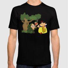 Snow White (witch) Mens Fitted Tee Black MEDIUM