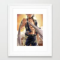 arya Framed Art Prints featuring Natsu - End Tartaros Arc by Arya
