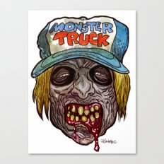 Heads of the Living Dead Zombies: Monster Truck Zombie Canvas Print