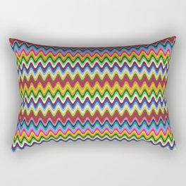Rainbow, multicolored waves in ethnic style Rectangular Pillow