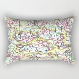 Three Leaves on the Cherry Blossom Rectangular Pillow