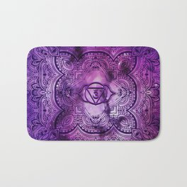 Cosmic Purple 3rd Eye Chakra  Tapestry Bath Mat