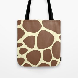 Animal Print (Giraffe Pattern) - Brown Yellow Tote Bag