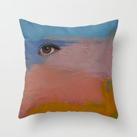 gypsy Throw Pillows featuring Gypsy by Michael Creese