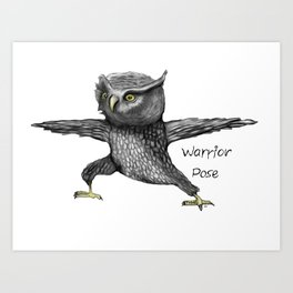 Warrior pose Art Print