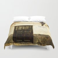police Duvet Covers featuring Gibraltar, district police office by Fine Art by Rina