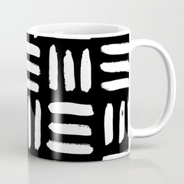 Black Mudcloth Pattern Coffee Mug