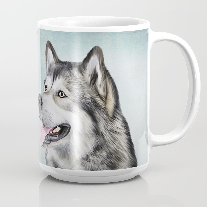 Drawing Dog Alaskan Malamute Coffee Mug By Bonidog Society6
