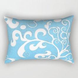 Fina Blue Rectangular Pillow